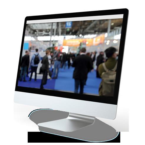 ecran visuel salon connecté par adw event - wifi événementiel