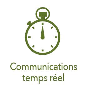 Picto chronomètre, communications en temps réel