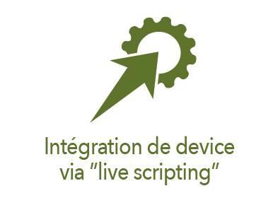 Picto intégration de device via